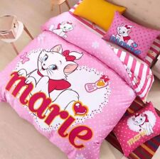 Cute Pink Kitty Cat Marie Disney Aristocat With White Polka Dot Bed Set For Kids