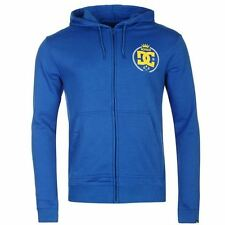 DC Shoes USA Sledge Full Zip Hoody Mens Blue Hoodie Sweatshirt Jacket
