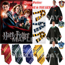 Harry Potter Cape Costume Adult Youth Gryffindor  Ravenclaw Robe Cloak Tie/Scarf