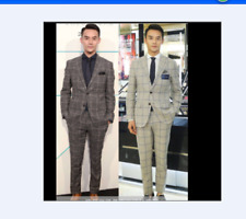 Men's suit of 26 colors Gwen wool-polyester cloth suit suits in vest suit custom