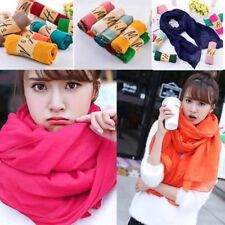30 Colors Girls Ladies Womens Long Scarf Wrap Shawl Scarves Fashion Linen Cotton