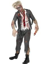 Adult Zombie School Boy Mens Halloween Horror Fancy Dress Costume Party Outfit