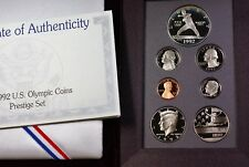 1992- S Prestige Set Gem Proof Coins US Mint Baseball Silver $1 Dollar