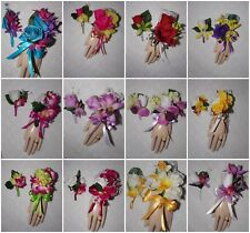 2PC Wrist Corsage & Boutonniere Set Mini Orchids Your Choice of Many Colors