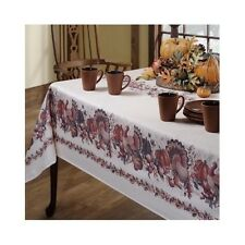 Thanksgiving Printed Fabric Tablecloth Holiday Turkey Dinner Cloth Table Linens