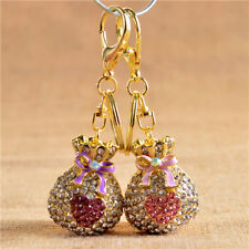 Purse Keychain 1Pcs Pendant Gift Bag Crystal Rhinestone Wallet Heart Charm Lucky
