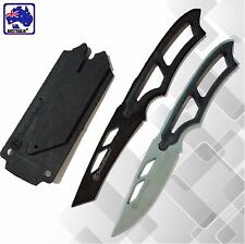 Hunting Whistle Knife w/ Sheath Outdoor Survival Camping Serrated Pocket OKNIF19