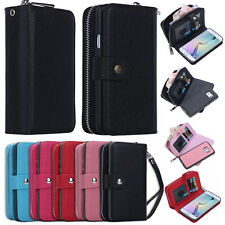 Luxury PU Leather Purse Zipper Wallet Case Card Holder For Samsung Galaxy S8