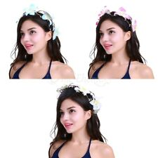 Women Girls Handmade Flower Hair Garland Crown Headband Floral Wreath Hairband