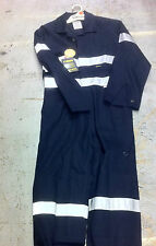 Coveralls Overalls BISLEY, Navy Long Sleeve NEW Reflective Tape 82R