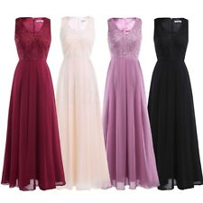 Long-Maxi-Womens'-Chiffon-V-Dress-Bridesmaid-Wedding-Evening-Prom-Cocktail-Party