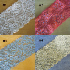 """2 Yards 2"""" - 3""""  Wide Stretch Floral Lace 4 Colors yzh8"""