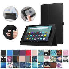 Moko For Amazon Kindle Fire 7 2017 7th Gen Tablet Case Flip Leather Stand Cover