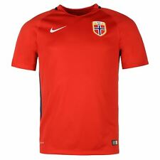 Nike Norway Home Jersey 2016 Mens Red/White Football Soccer Top Shirt
