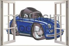 Huge 3D Koolart Window view Porsche 356 Cabrio Wall Sticker Poster 767