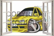 Huge 3D Koolart Window view Vw Golf Mk4 Wall Sticker Poster 2472