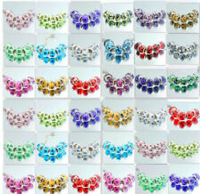 Hot 5pcs Silver MURANO beads LAMPWORK fit European Charm Bracelet Chain DIY
