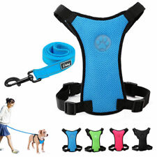 Adjustable Mesh Large Dog Harness Pet Collar and Leash for Dogs Travel Walking