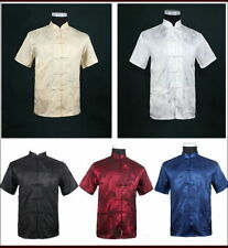 Chinese Traditional Style Men's Summer Casual Kung Fu Shirt Tops hot