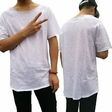 Fashion Design  Men no sewing Tees Extended curve hem men t shirt Street wear