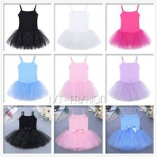 Girls Kids Camisole Dress Toddler Shiny Tutu Skirt Ballet Dance Wear Party Dress