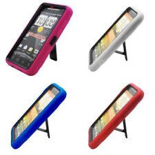 Armor 3 in 1 High Impact Combo Hard Soft Gel Case Stand For HTC EVO 4G