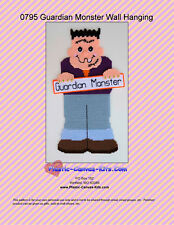 Guardian Monster Wall Hanging-Halloween-Plastic Canvas Pattern or Kit