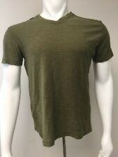 Modern Culture T Shirt V Neck Men M Medium Olive Khaki Green Cotton Trendy