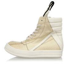 RICK OWENS New Woman Leather Shoes Sneakers GEOBASKET Made in Italy