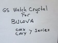 NOS GS Watch Crystal for Vintage Bulova Wristwatches various sizes