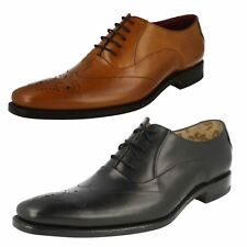MENS LOAKE LEATHER LACE UP SHOES IN BLACK & TAN STYLE GUNNY