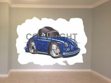 Huge Koolart Cartoon Porsche 356 Cabrio Wall Sticker Poster Mural 767