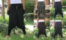 Harem Drop Crotch Baggy Hip Hop Yoga Indie Chic Stretch Cotton Pants Trousers