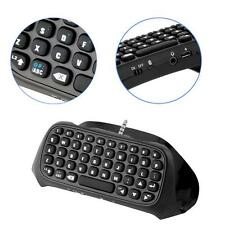 NEW 3-5mm Plug Black Mini-Wireless Chatpad Message Keyboard for PS4 Controler #2
