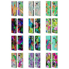 OFFICIAL HAROULITA TROPICAL LEATHER BOOK WALLET CASE COVER FOR SAMSUNG PHONES 1