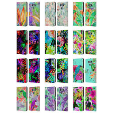 OFFICIAL HAROULITA TROPICAL LEATHER BOOK WALLET CASE COVER FOR LG PHONES 1
