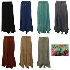 PLUS SIZE BOHO HIPPIE TONE TO TONE EMBROIDERED CUT OUT GYPSY SKIRT SIZE 10 to 20