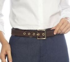 Isaac Mizrahi Live! Suede Stretch Buckle Belt with Stitching A210177
