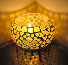 Vintage Mosaic illuminated Candle Holders