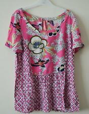 NEW EX WHITE STUFF PINK FLORAL PRINT BLOUSE TOP UK SIZE 8 10 12 14 16 18