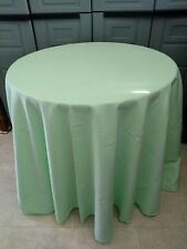 mint Green  Round  tablecloth Polyester easycare 11 sizes Made in USA