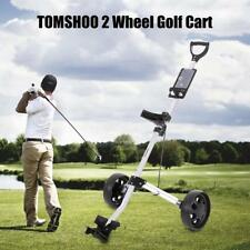 Folding 2/3/4 Wheel  Golf Trolley Pull Push Cart 14 Golf Stand Carry Bag P6D0