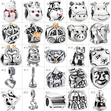European Silver Charms Bead Fit 925 Pendant Bracelet Chain Jewelry Festival Gift