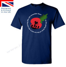 REMEMBRANCE DAY British Legion WW2 Mens Womens Unisex Poppy Day Charity T-Shirt