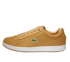 Lacoste CARNABY EVO LUX SPM MENS TRAINER SHOE SIZE 6.5 - 11 TAN SUEDE RRP £80/-