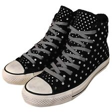 Converse Chuck Taylor All Star Hi Black Grey Dot Womens Casual Shoes Sneakers