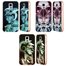 HEAD CASE DESIGNS SKULL MAIDEN GOLD BUMPER SLIDER CASE FOR SAMSUNG PHONES