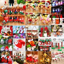Christmas Socks Tableware Ornaments Snowman Holiday Home Party Xmas Decor Lot