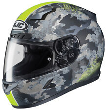 HJC Adult CL-17 Void Neon Yellow/Grey Camo Full Face Motorcycle Helmet Snell DOT
