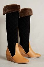 Anthropologie $398 Schuler & Sons Penny Quilted Boots Sz 6 - NWOB